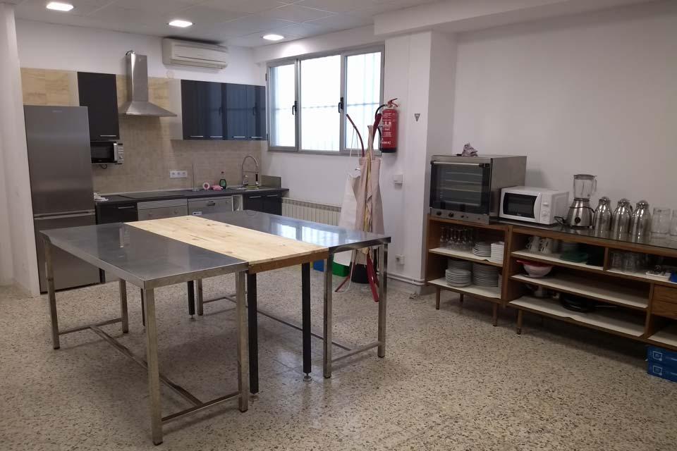 Aula de cocina de El Ventanal en Pamplona