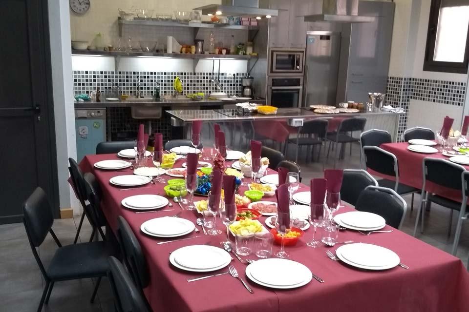 Aula de cocina en Logroño
