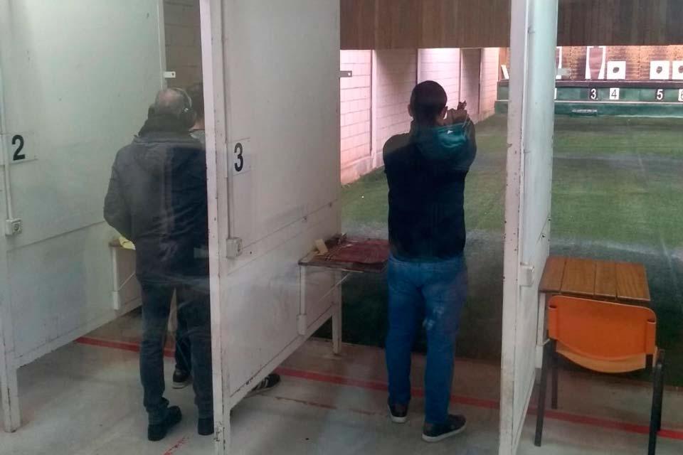 Prácticas de tiro en Pamplona